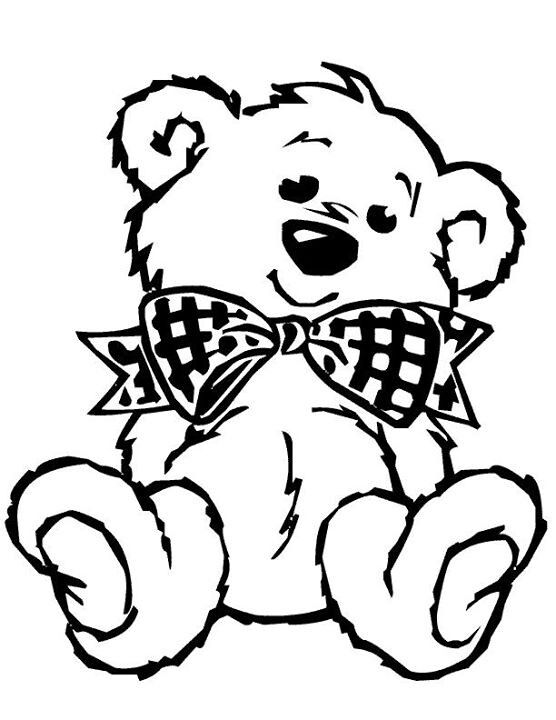 Teddy clipart coloring page #2