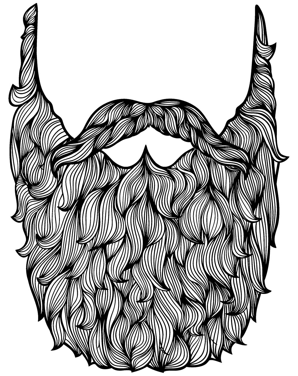 Drawn beard doodle Pencil Drawing Amazing Beard Images