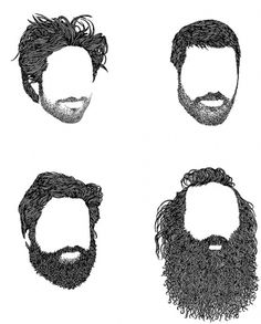 Drawn beard #7