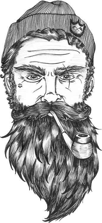 Drawn beard #9