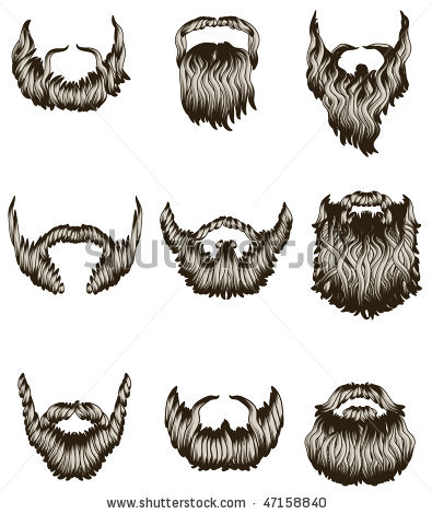 Drawn beard #10