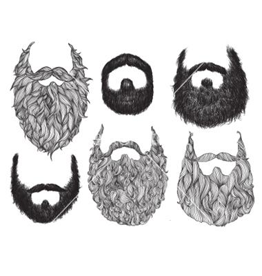 Drawn beard #3