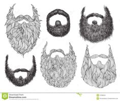 Drawn beard #12