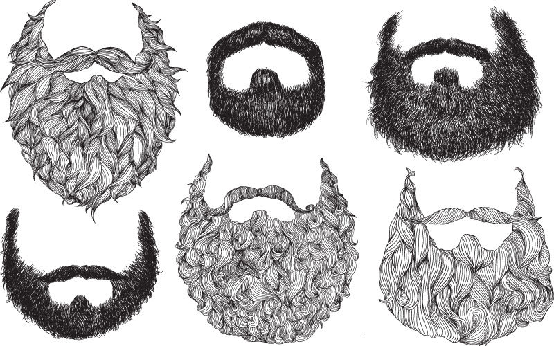 Drawn beard #13