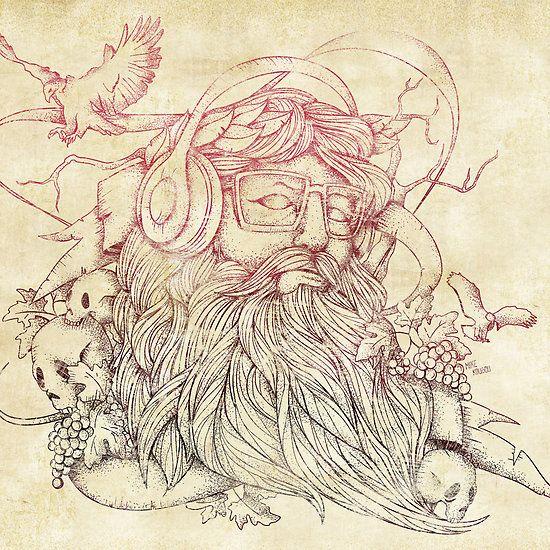 Drawn beard abstract #15