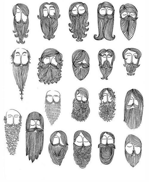 Drawn beard animated #3