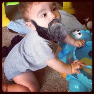 Drawn beard baby With Babies son beard wears