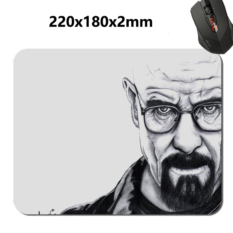 Drawn beard bad Breaking Rectangle Supported Customized Mat