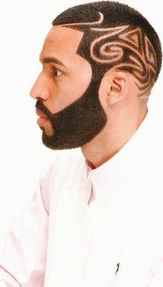 Drawn beard crispy  Whoa #barberlife huh? looks