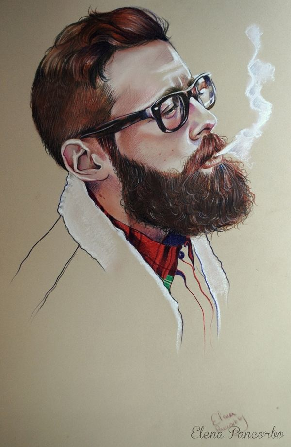 Drawn beard crispy Strandlund on Déjame Strandlund Pancorbo