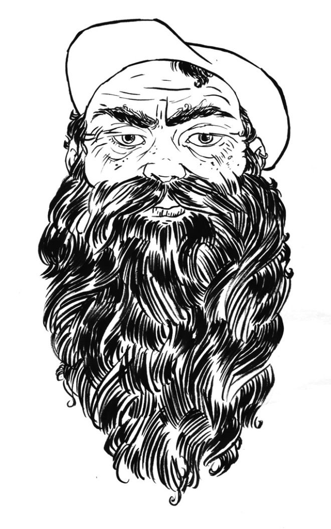 Drawn beard curly Curly thick 13 BEARDS ish