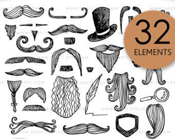 Drawn beard doodle #6