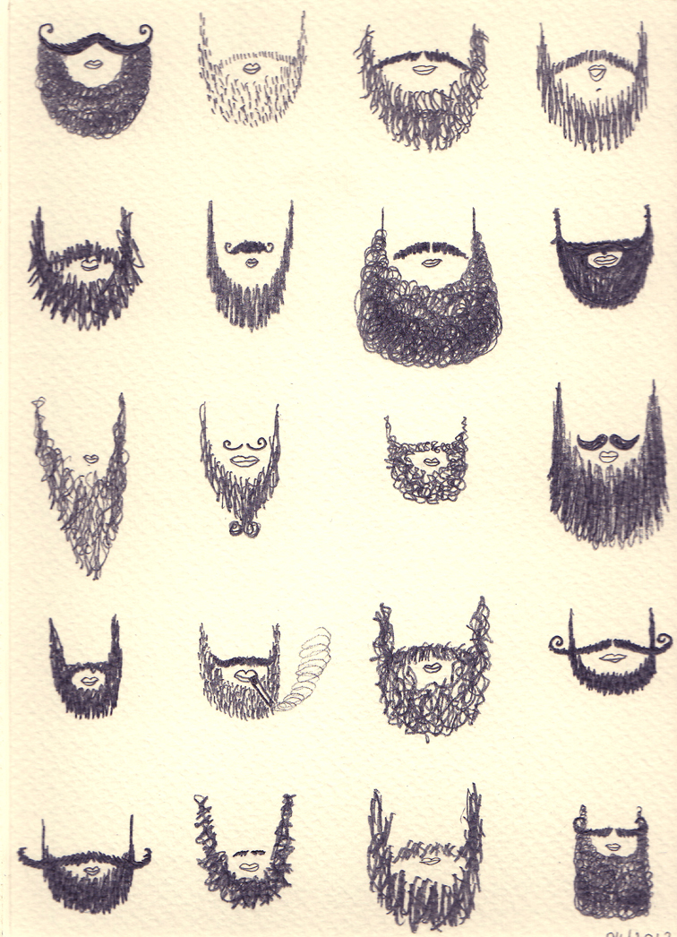 Drawn beard doodle Google Search Beards Explore bangstyle