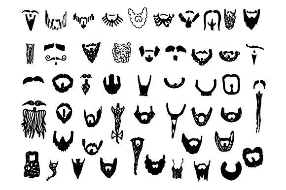 Drawn beard doodle #3