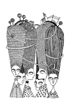 Drawn beard doodle #5