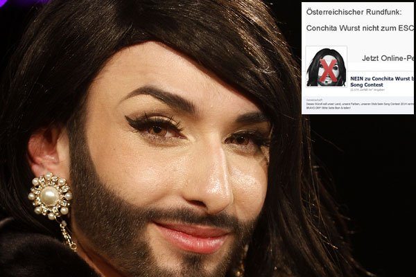 Drawn beard fake [Image: Wurst: Neuwirth woman jpg]