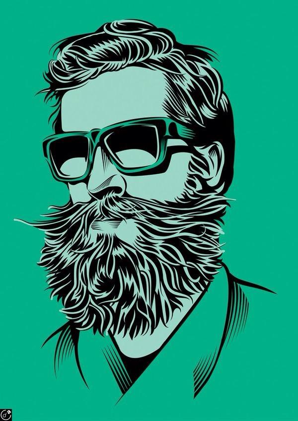Drawn beard graphic Artwork mustache mustache beard art