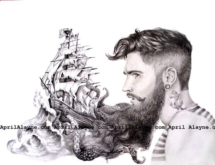 Drawn beard sailor On this beards Sailor's and