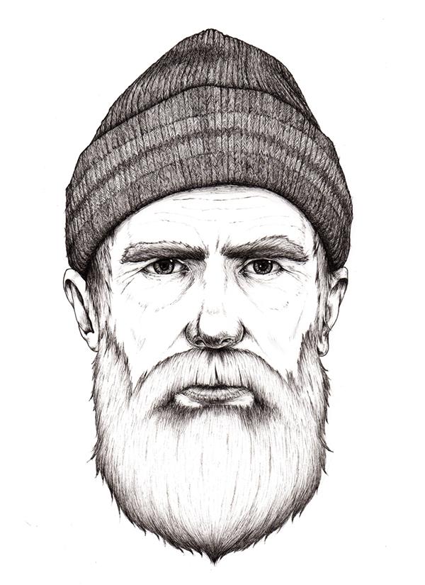 Drawn beard sailor #8