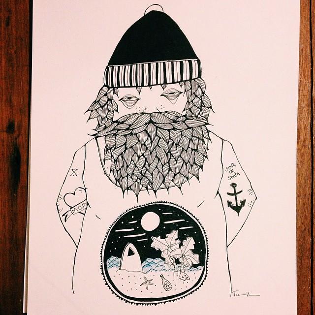 Drawn beard sailor #4