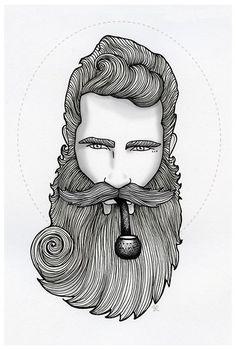 Drawn beard sailor #5