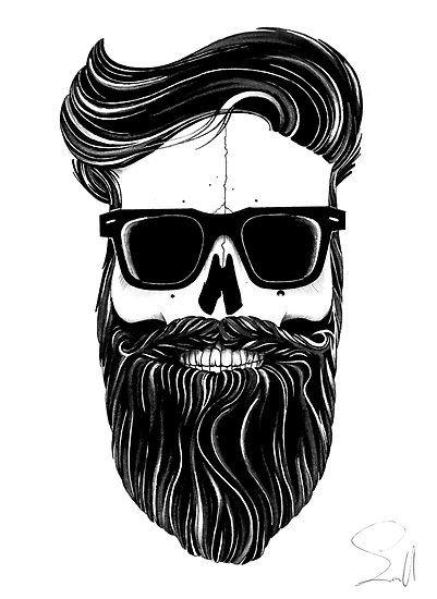 Drawn beard skull Beard Capitao art on Best