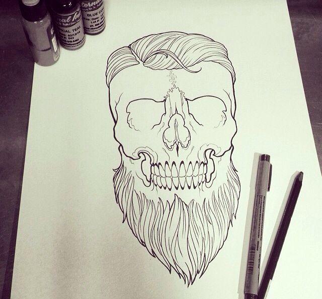 Drawn beard skull Beards on 88 images skull