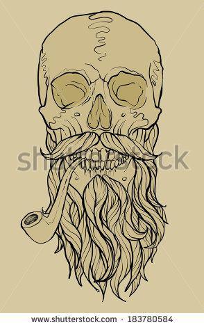Drawn beard smoking pipe Beard n Pipes Pinterest with