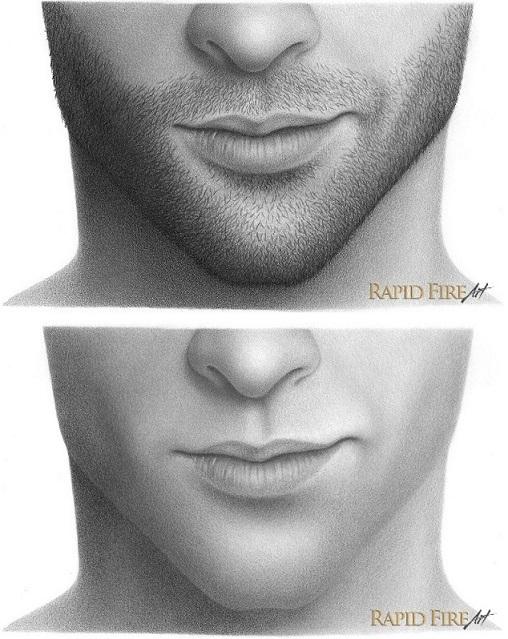 Drawn beard Draw stubble to How draw