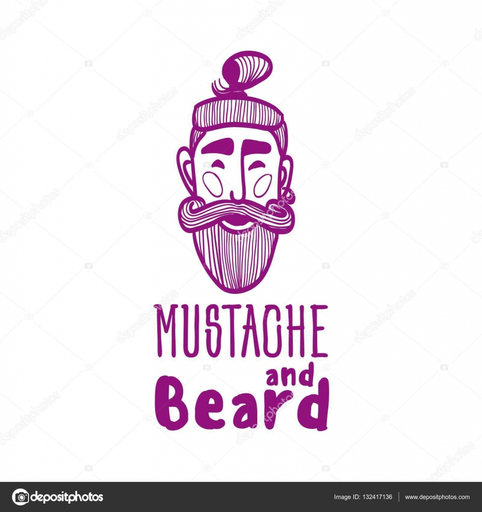 Drawn beard stylized #4