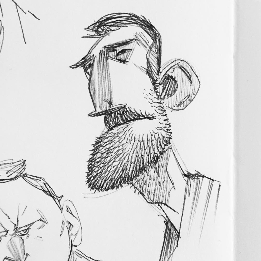 Drawn beard stylized #3