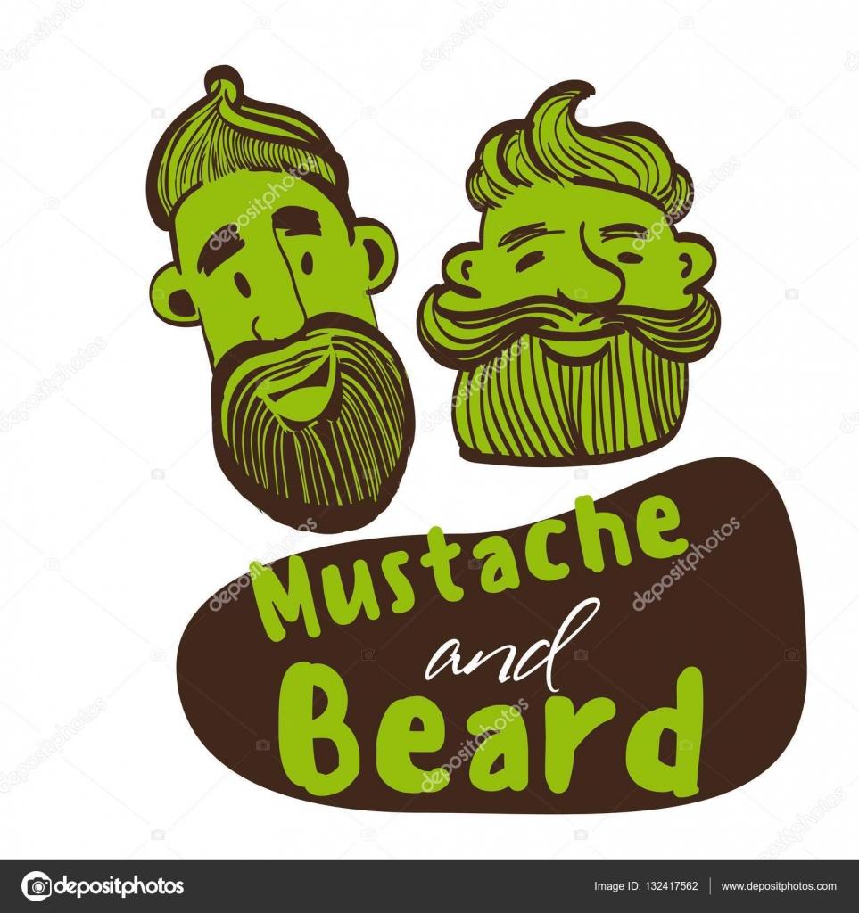 Drawn beard stylized #6