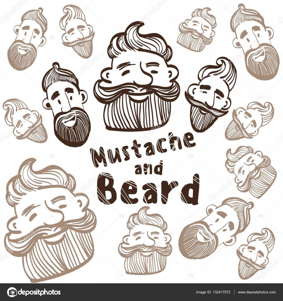 Drawn beard stylized #5