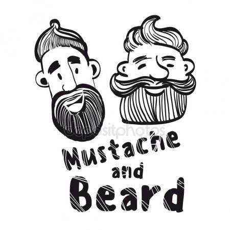 Drawn beard stylized #2