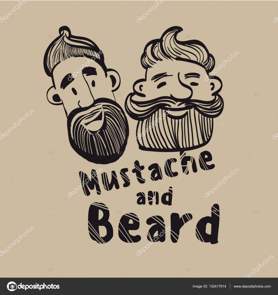Drawn beard stylized #1
