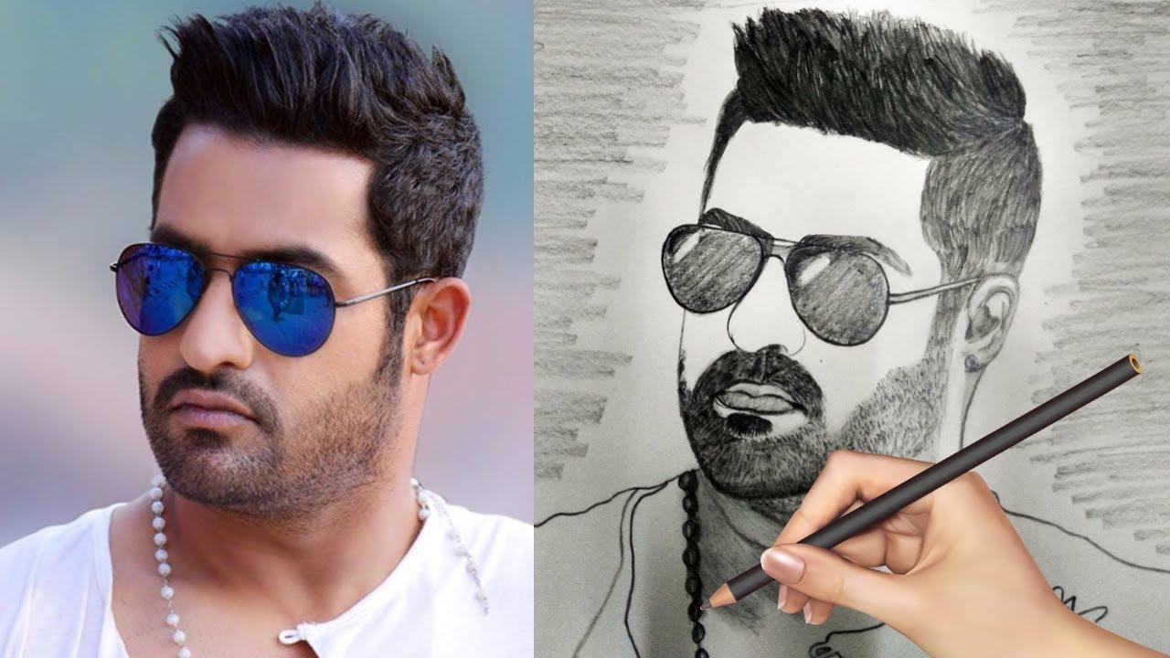 Drawn beard super junior Rama Drawing Rama Pencil Nandamuri