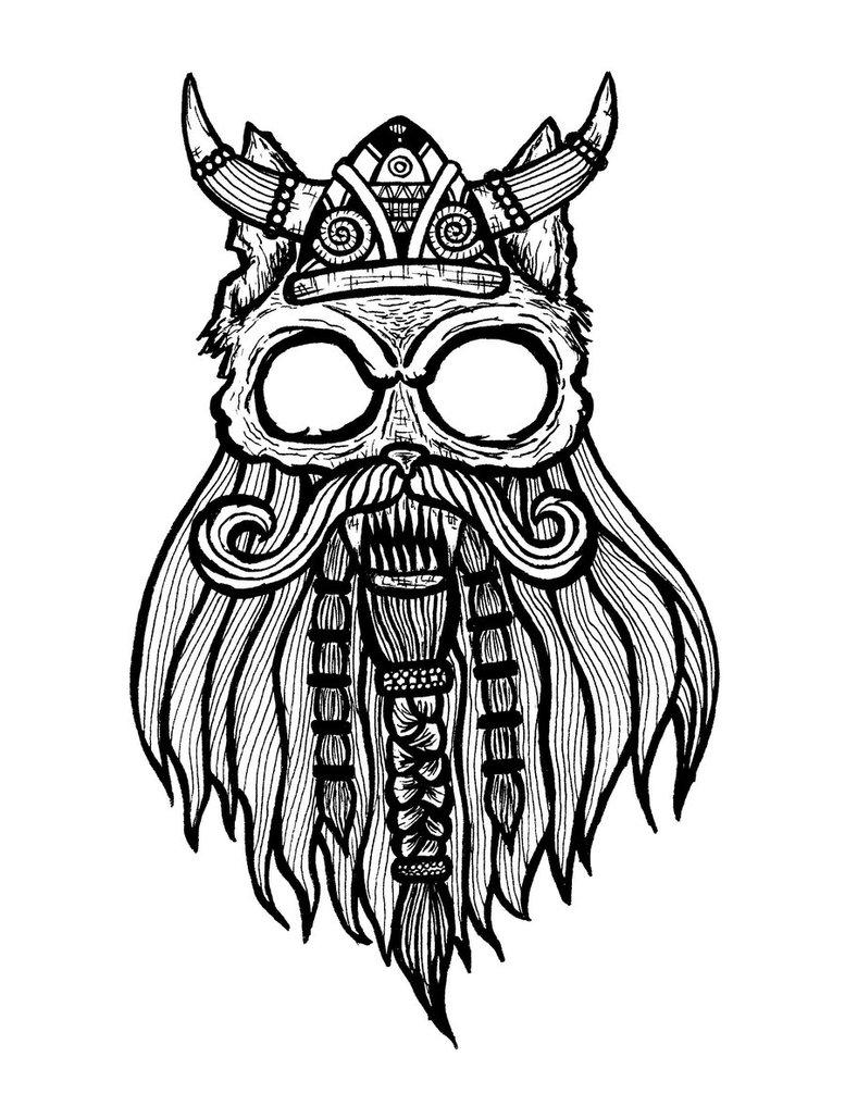 Drawn beard viking beard - Pencil and in color drawn beard ...