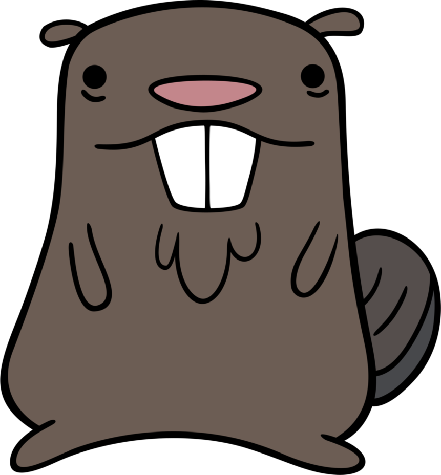 Drawn beaver Gravity on Beaver TimeImpact Gravity