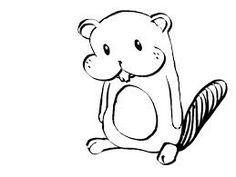 Drawn beaver  pixels drawing via Patin