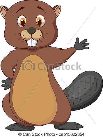 Beaver clipart cute Stock Photo Image Beaver cartoon