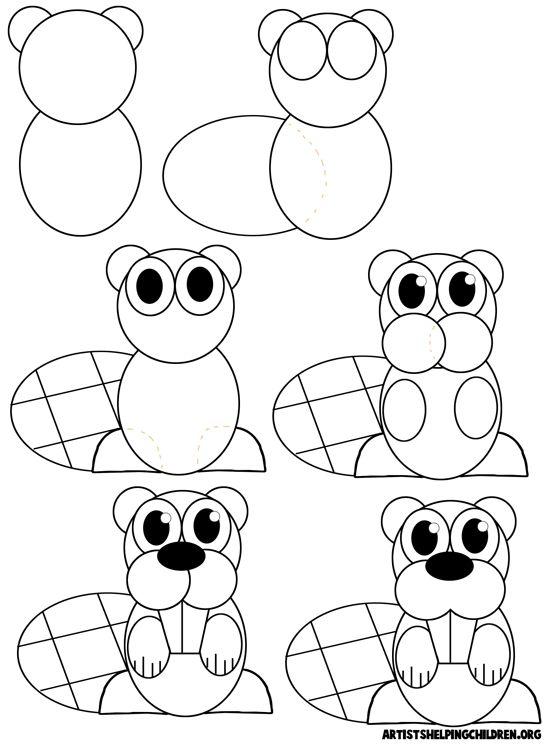 Drawn cartoon line drawing #9