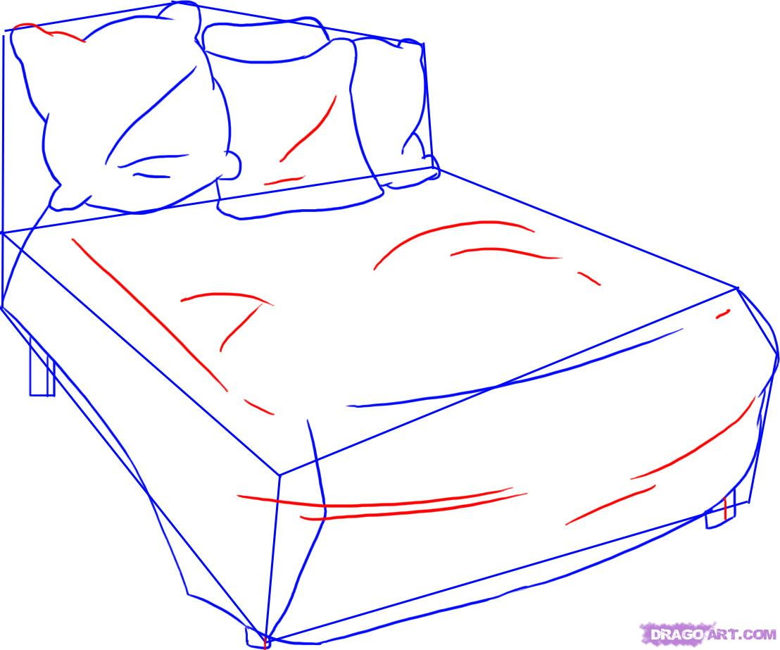 Drawn bed Bed how Step 4 Step