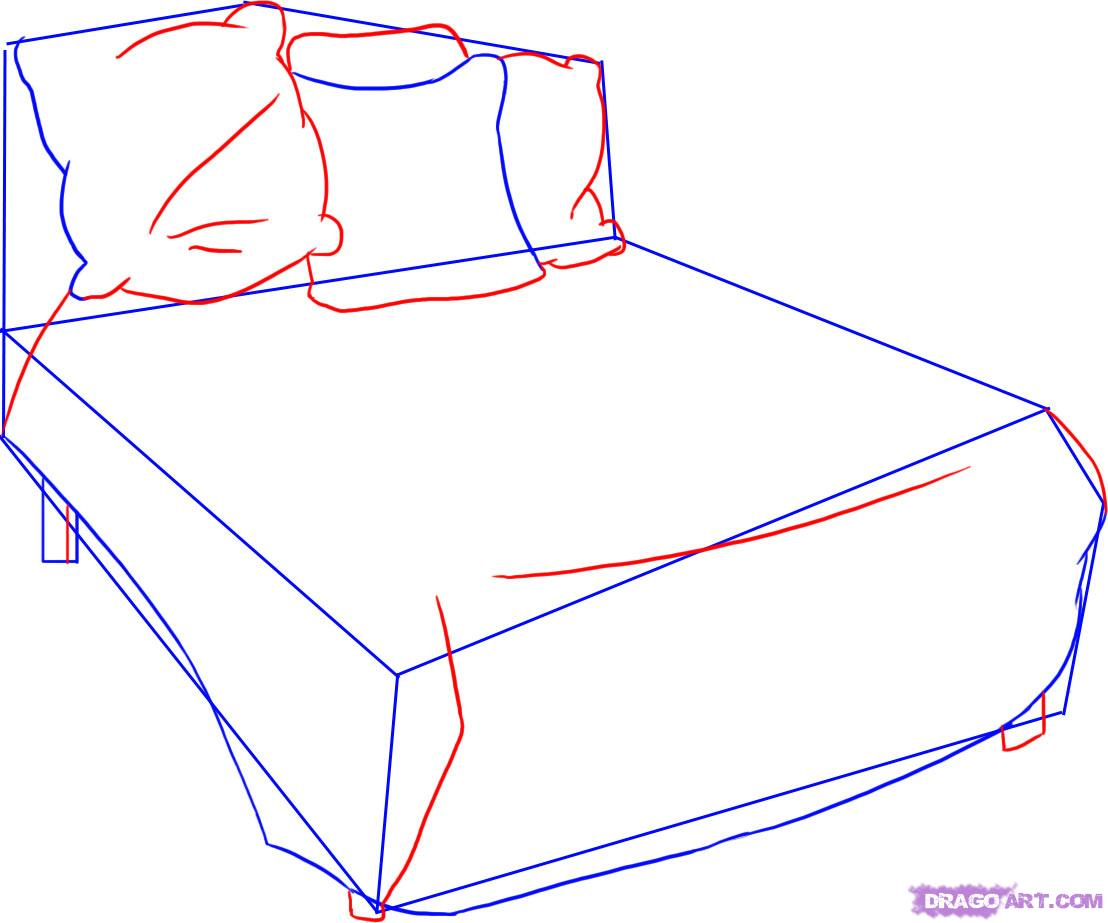 Drawn bed Bed how Step 3 Step