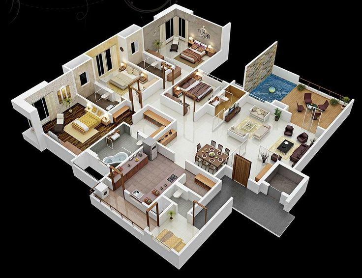 Drawn bedroom 3d classroom Plans Pinterest house Best on