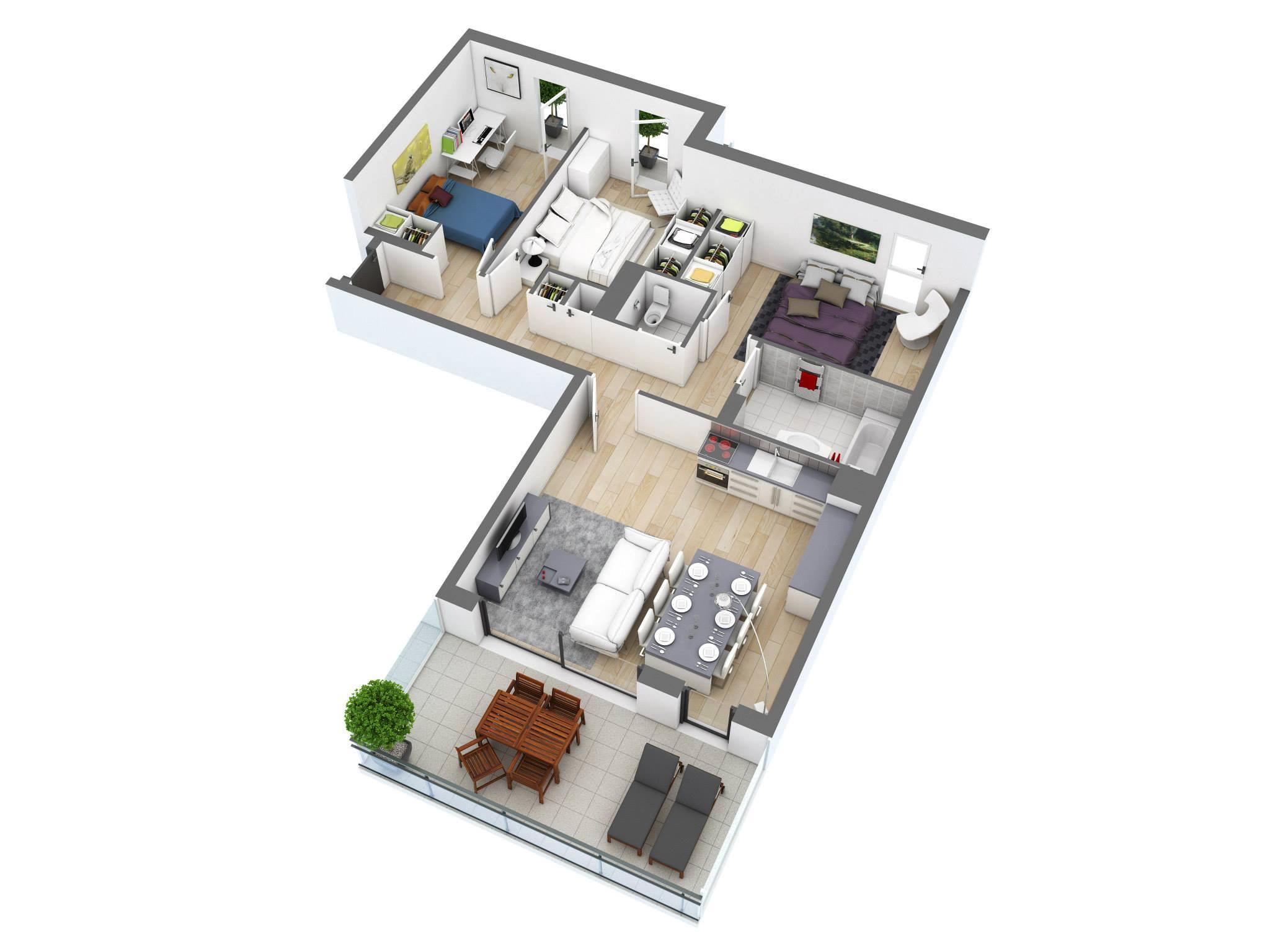 Drawn bedroom 3d classroom 3D & Architecture Bedroom 25