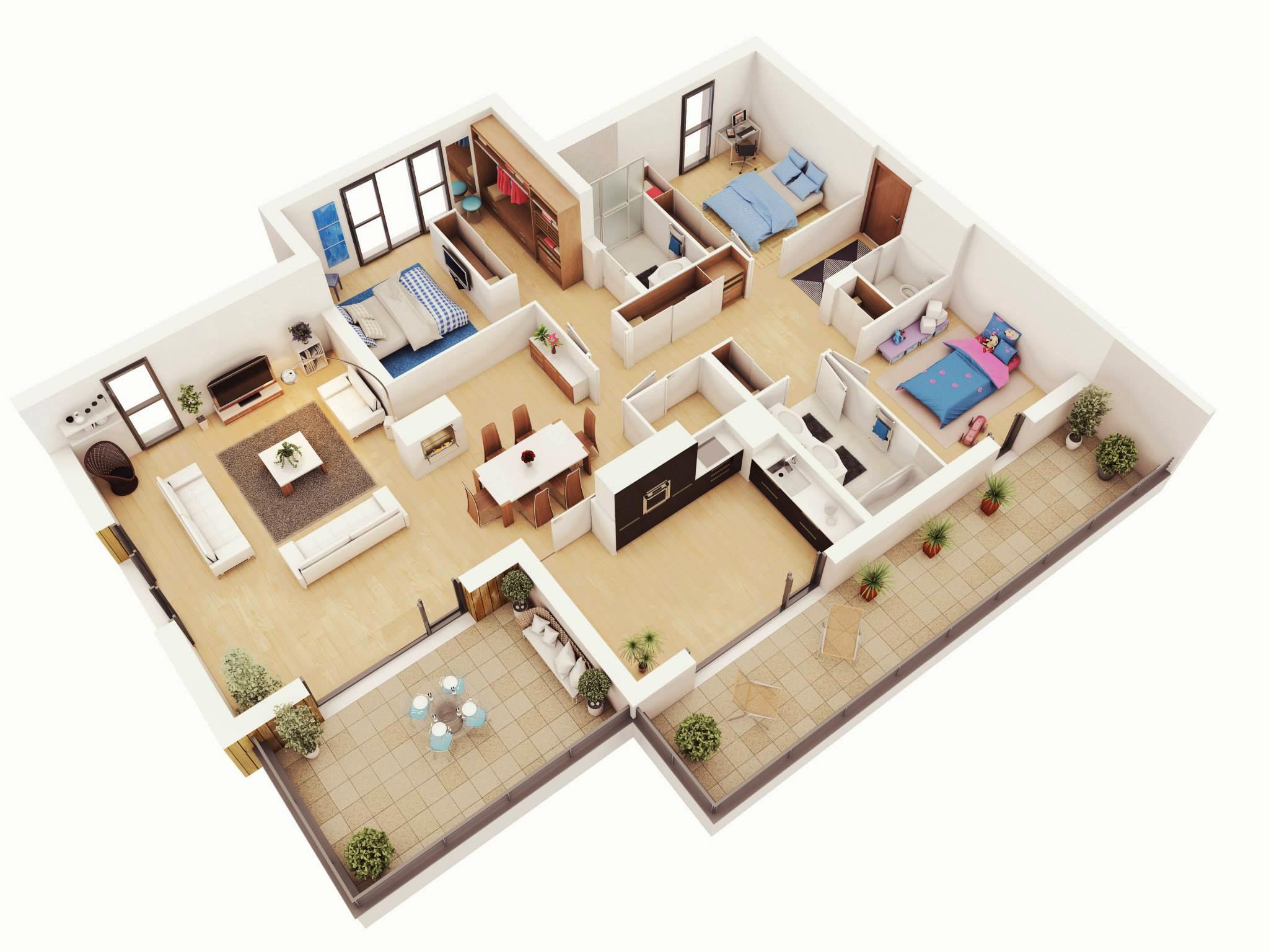 Drawn bedroom 3d classroom Architecture Plans Bedroom Design More