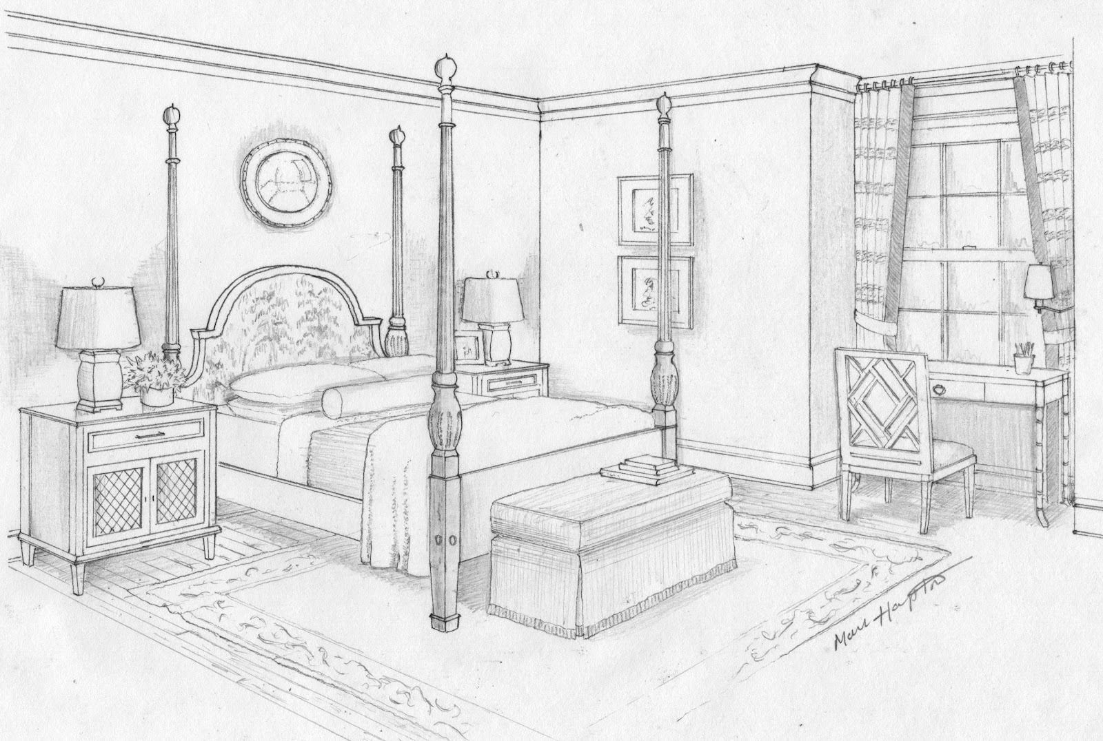Drawn bedroom black and white Ideas Pictures Art Bedroom Dream