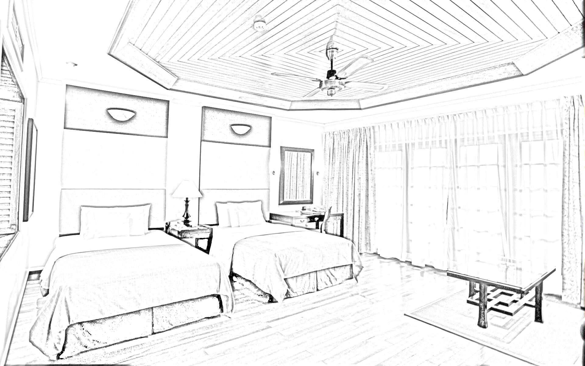 Drawn bedroom basic interior design Sketches Bedroom With Winsome Incredible