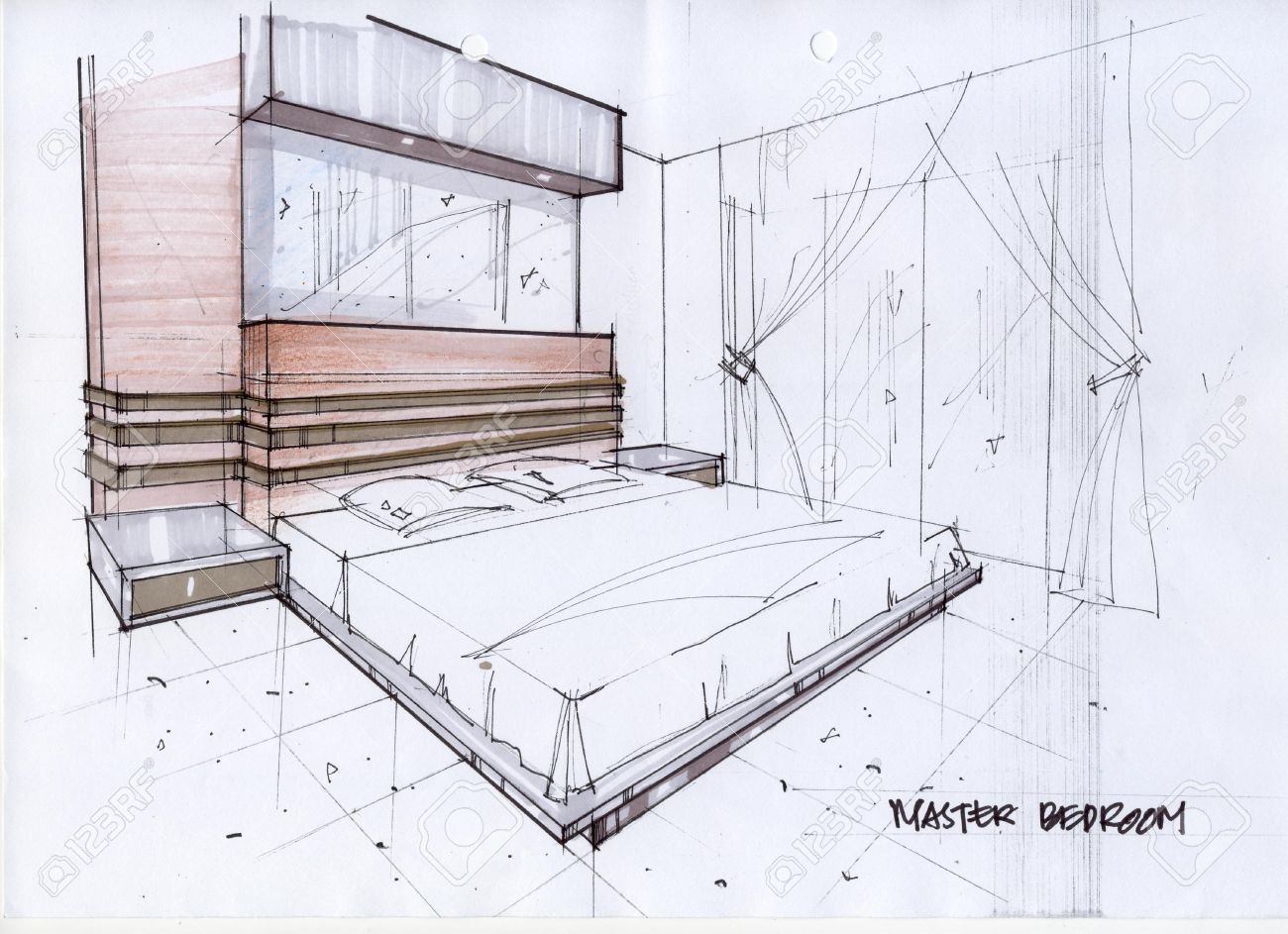 Drawn bedroom basic interior design Pic Bedroom Small Design Incredible