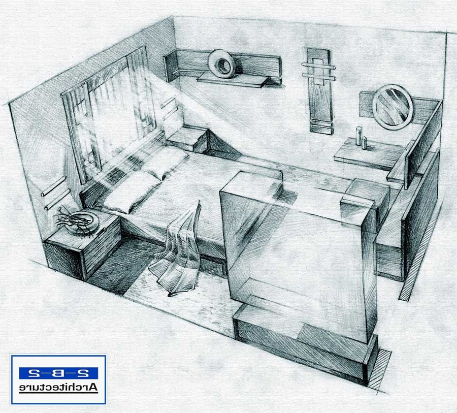 Drawn bedroom basic interior design Bedroom Draw Work Drawing house
